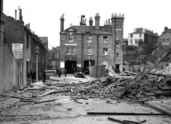 Blitz in London -- Greenwich fire station, WW2